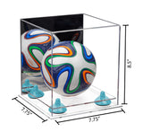 7.75x7.75x8.50 Mini Soccerball Display Case with Clear Base