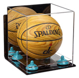 Mini Basketball Display Case with Wall Mount and Clear Base