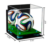 7.75x7.75x8.5 Acrylic Display Case with Mirror, Wall Mount and Risers