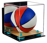 Mini Basketball Display Case with Wall Mount and Wood Base