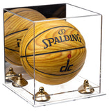Acrylic Mini - Miniature (not Full Size) Basketball Display Case with Mirror, Risers and Clear Base