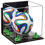 Mini Soccerball Display Case with Clear Base