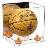 Mini Basketball Display Case with Clear Base