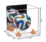 7.75x7.75x8.50 Mini Soccer Ball Case with Risers