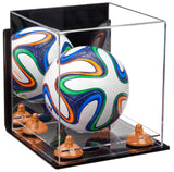 Mini Soccer Ball Case with Wall Mount and Risers