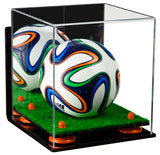 Mini Soccer Ball Display Case with Wall Mount