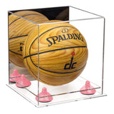 Mirrored Small Basketball Display Box with Risers