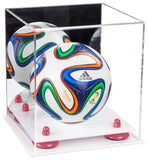 Mirrored Mini Soccer Ball Display Box with Risers