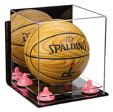 Mirrored Acrylic Mini Basketball Display Box with Wall Mount