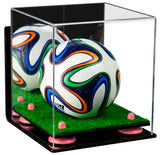 Mirrored Acrylic Mini Soccer Ball Display Box with Wall Mount