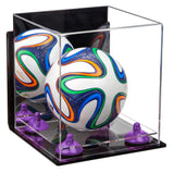 Small Soccer Ball Case with Wall Mount and Clear Base