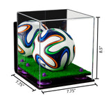 7.75x7.75x8.5 Mini Soccer Ball Display Case with Turf Base