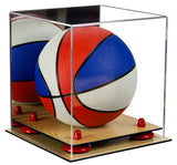 Mirrored Mini Basketball Display Case