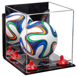 Mini Soccer Ball Case with Mirror, Wall Mount and Risers
