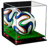 Mirrored Mini Soccer Ball Display Case with Wall Mount