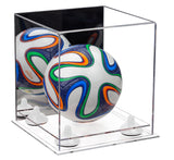 Mini Soccer Ball Case with Mirror, Risers and Clear Base