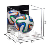 7.75x7.75x8.50 Mini Soccer Ball Case with Mirror
