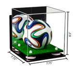 7.75x7.75x8.5 Mini Soccer Ball Display Case with Wall Mount