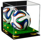 Wall Mounted Mini Soccer Ball Display Box with Risers