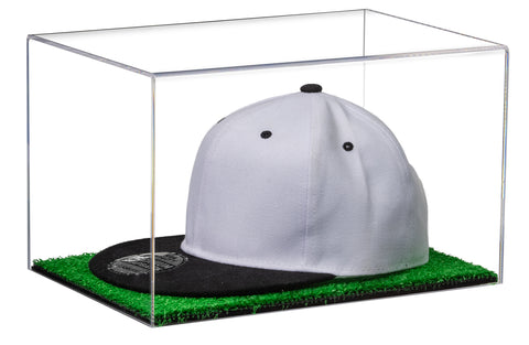 Hat or Cap Display Case w/ Clear or Mirror, (Black/White/Turf) Floor A018/V40