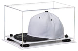 Clear Acrylic Snapback Hat or Baseball Cap Display Case w/ White Base A018/V40