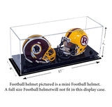 Double Mini Clear <br> Football Helmet <br> Display Case<br><sub>NFL, NCAA, and More!</sub>, Display Case, Better Display Cases, Better Display Cases - Better Display Cases