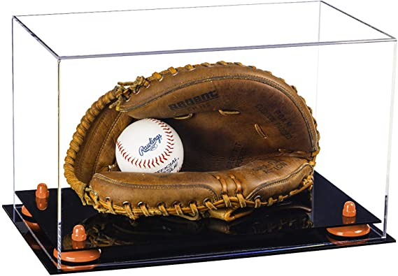 Acrylic Baseball Catchers Glove Display Case Clear