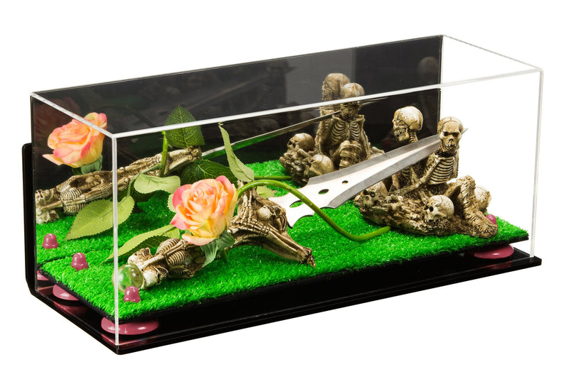 Acrylic Versatile Display Case with Turf Base