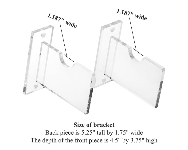 Baseball Home Plate <br> Wall Mount Bracket <br> <sub> MLB, NCAA, and more! <br>(A023-HP-SS), Display Case, Better Display Cases, Better Display Cases - Better Display Cases
