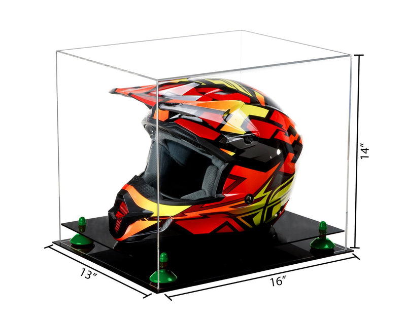 Acrylic Motorcycle Nascar or Motocross Racing Helmet Display Case Clear