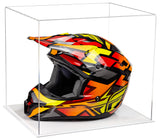 Acrylic Motorcycle Motocross or Nascar Racing Helmet Display Case with White Base