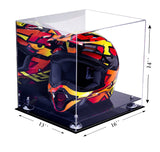 Motocross Helmet <br> Mirrored Display Case  <br> <sub/> Nascar, Motorcycle, Racing!, Display Case, Better Display Cases, Better Display Cases - Better Display Cases
