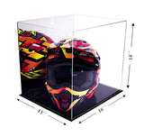 Acrylic Racing Helmet Display Case Clear or Mirror, White or Black Floor A024/V61