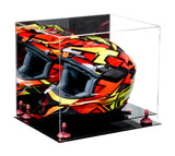 Acrylic Racing Helmet Display Case w/ Mirror, Black Base A024/V61