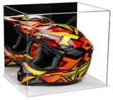 Mirrored Motorcycle Racing Helmet Display Case