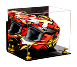 Acrylic Racing Helmet Display Case w/ Mirror, Wall Mount, Black Base A024/V61