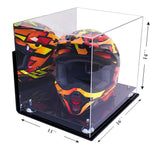 Motocross Helmet <br> Mirrored Display Case <br> with Wall Mount <br> <sub/> Nascar, Motorcycle, Racing!, Display Case, Better Display Cases, Better Display Cases - Better Display Cases