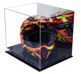 Motocross Helmet <br> Mirrored Display Case  <br> <sub/> Nascar, Motorcycle, Racing! - Better Display Cases - 3