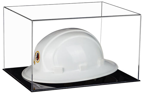 Clear Large Helmet or Hard Hat Display Case with Black Base