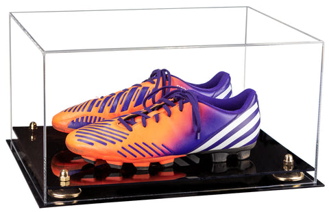 Gold Risers, Black Base, Soccer Cleats, Football Cleats
