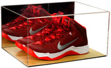Deluxe Acrylic Basketball Shoe Display Case with Wood Floor (A026-WF), , Better Display Cases, Better Display Cases - Better Display Cases