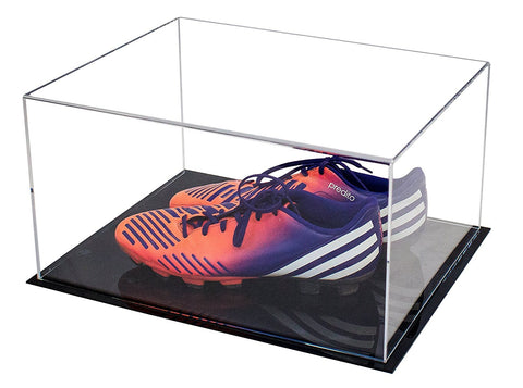 "Acrylic Deluxe Table Top Display Case<br>Medium Rectangle Box<br><sub>15.25"" x 12"" x 8"" (A026)"
