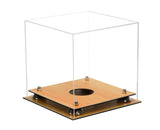 Deluxe Clear Acrylic Volleyball Display Case with Risers and Wood Floor (A027-WF), Display Case, Better Display Cases, Better Display Cases - Better Display Cases