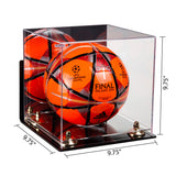 Acrylic Soccer Ball Display Case w/ Mirror, Wall Mount, Clear Base A027/B02