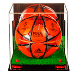 Deluxe Acrylic Soccer Ball Display Case with Risers, Mirror, Turf Base and Wall Mount (A027-TB), Display Case, Better Display Cases, Better Display Cases - Better Display Cases