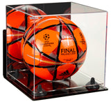 Deluxe Acrylic Soccer Ball Display Case with Mirror, Wall Mount, Risers and Clear Base (A027-CB), Display Case, Better Display Cases, Better Display Cases - Better Display Cases