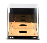 Deluxe Acrylic Volleyball Wall Mount Display Case with Risers, Mirror and Wood Floor (A027-WF), Display Case, Better Display Cases, Better Display Cases - Better Display Cases