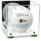 Mirrored Volleyball Display Box with Risers