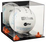 Deluxe Acrylic Volleyball Display Case with Mirror, Wall Mount, Risers and Clear Base (A027-CB), Display Case, Better Display Cases, Better Display Cases - Better Display Cases