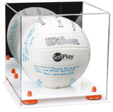 Volleyball Display Case with White Base
